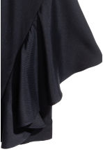 Silk-blend flounced trousers - Dark blue -  | H&M CA 3